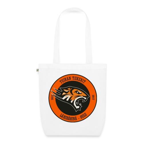 Tuiran Tiikerit, värikäs logo - Luomu-kangaskassi