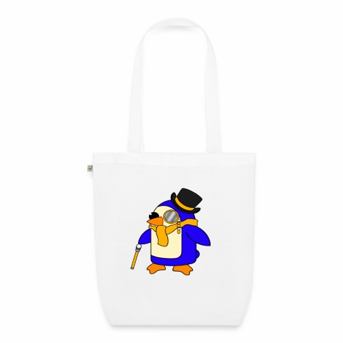 Cute Posh Sunny Yellow Penguin - EarthPositive Tote Bag