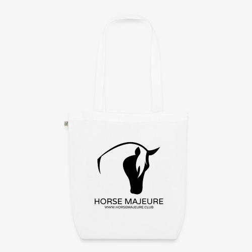 Horse Majeure Logo / Musta - Luomu-kangaskassi