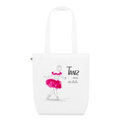 Ballerina mit rosa Tutu - Bio-Stoffbeutel