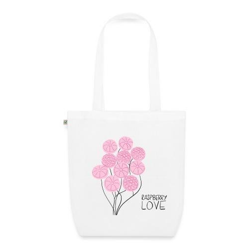 Himbeerbonbon Blumenstrauß - Bio-Stoffbeutel