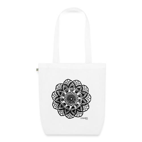 Grannys flower, musta - Luomu-kangaskassi