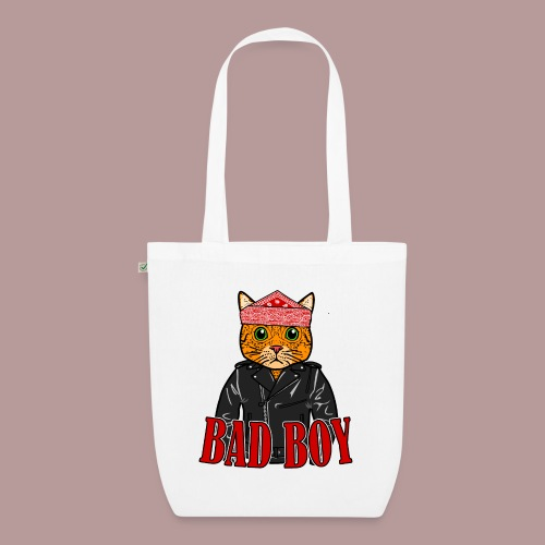 Bad boy chat roux rockeur - Sac en tissu biologique