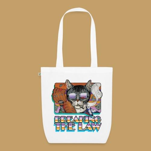 Crime Cat in Shades - Braking the Law - Ekologiczna torba materiałowa