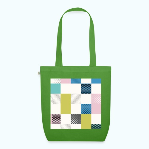 Abstract art squares - EarthPositive Tote Bag