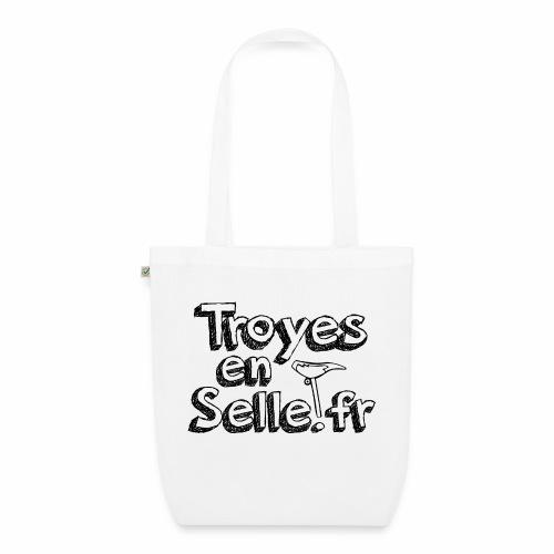 logo Troyes en Selle noir - Sac en tissu biologique