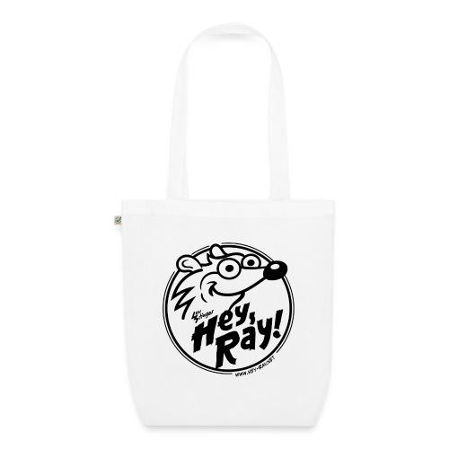 Hey Ray Logo black - Bio-Stoffbeutel