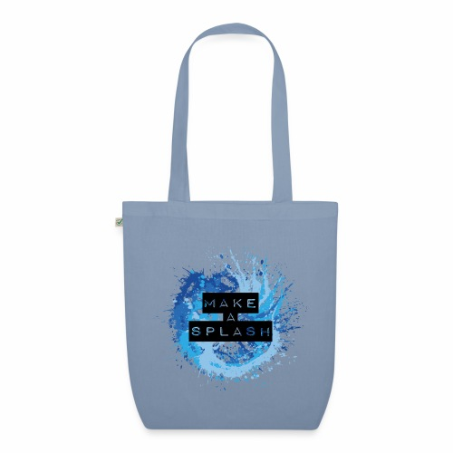 Make a Splash - Aquarell Design in Blau - Bio-Stoffbeutel