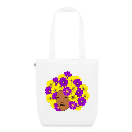 Flowery Summery Afro - EarthPositive Tote Bag