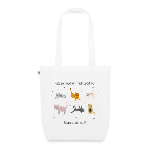 Katzen machen mich glücklich - Bio-Stoffbeutel