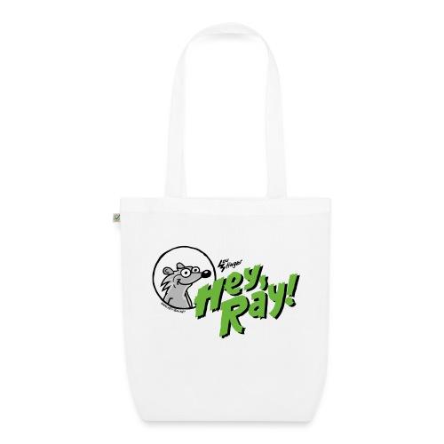 Hey Ray Logo green - Bio-Stoffbeutel