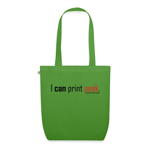 I can print peek. - EarthPositive Tote Bag