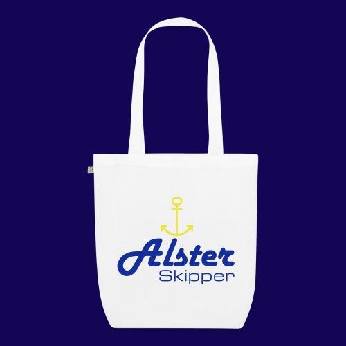 Hamburg maritim: Alster Skipper mit Anker - Bio-Stoffbeutel