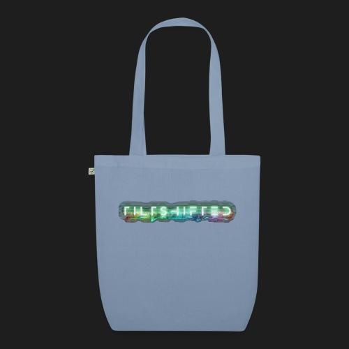 TiltShifted Logo on Black - Luomu-kangaskassi