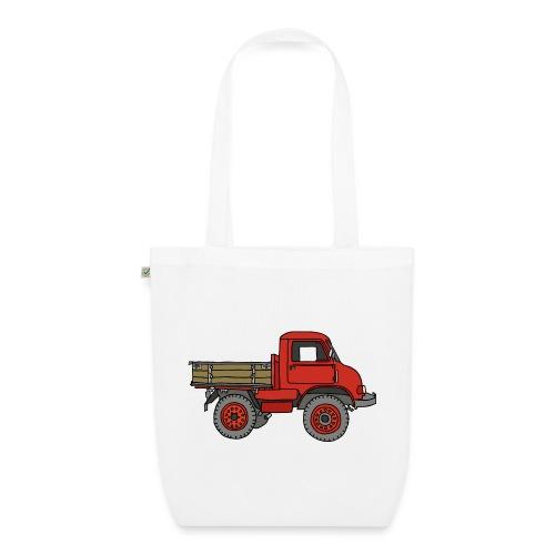 Roter Lastwagen, LKW, Laster - Bio-Stoffbeutel