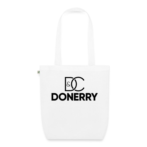 DONERRY Black Logo on White - EarthPositive Tote Bag