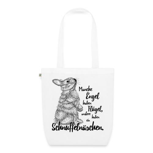 Kaninchen Hasen Zwergkaninchen Engel Liebe - Bio-Stoffbeutel