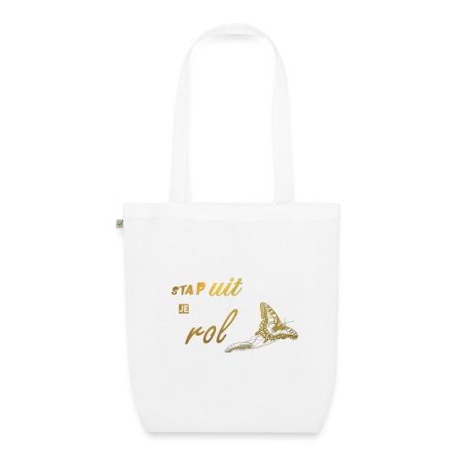 Stap uit je Rol Vlinder Goud - Bio stoffen tas
