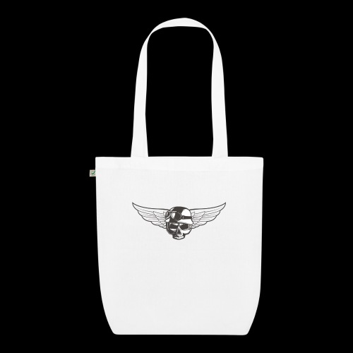 Biker skull - EarthPositive Tote Bag