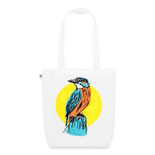 Linocut Kingfisher - Bio-Stoffbeutel