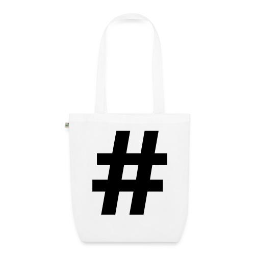 #Hashtag - Bio stoffen tas