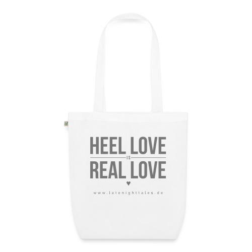 Heel Love is Real Love <3 - GREY - Bio-Stoffbeutel