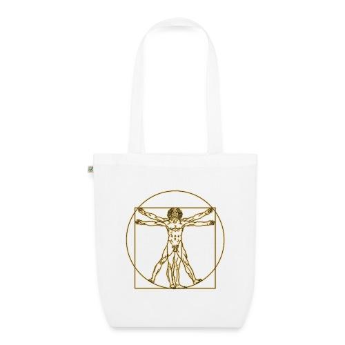 Hombre de Vitruvio. Leonardo Da Vinci - Bolsa de tela ecológica