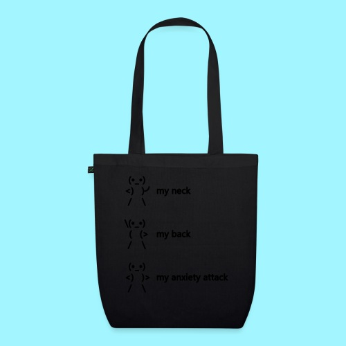 neck back anxiety attack - EarthPositive Tote Bag