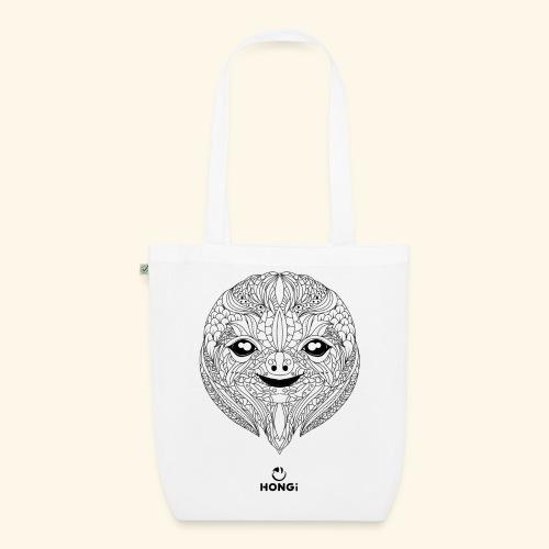 HONGi Sloth blackwhite s - Bio-Stoffbeutel
