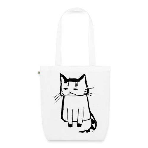 cat drawings on t shirt - Bio-Stoffbeutel