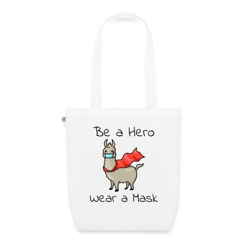 Sei ein Held, trag eine Maske - fight COVID-19 - Bio-Stoffbeutel