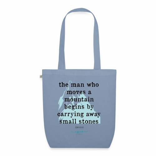 Confucius` Quote - The man who moves a mountain - EarthPositive Tote Bag