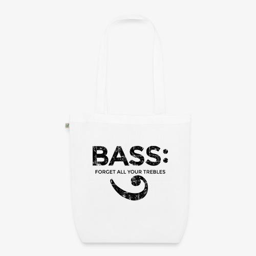 BASS - Forget all your trebles (Vintage/Schwarz) - Bio-Stoffbeutel