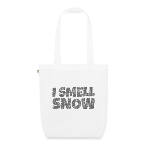 I Smell Snow (Dunkelgrau) Schnee, Wintersport, Ski - Bio-Stoffbeutel