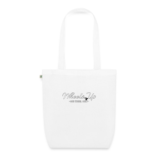 wheels up black figure - EarthPositive Tote Bag