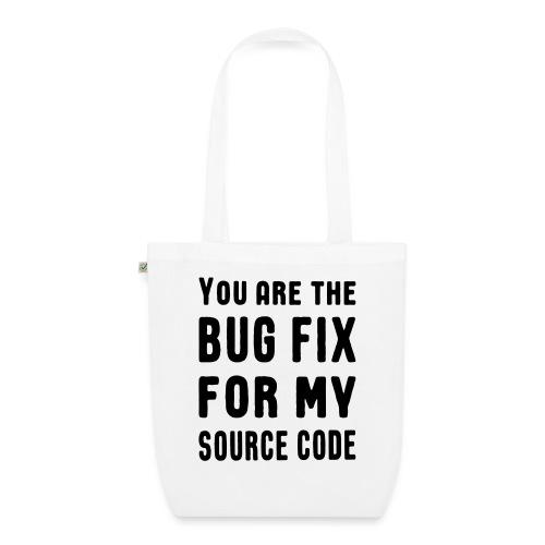 Programmierer Beziehung Liebe Source Code Spruch - Bio-Stoffbeutel