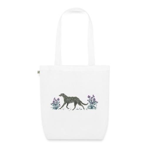 Deerhound und Disteln - Bio-Stoffbeutel