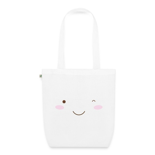 happy face wink - EarthPositive Tote Bag