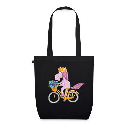 Pferd auf Fahrrad - Bio-Stoffbeutel