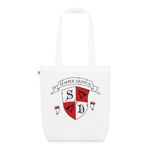 SD logo - hvide lænker - Øko-stoftaske
