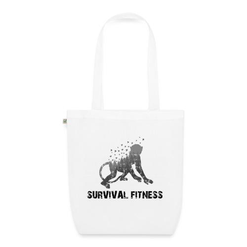 Survival Fitness Logo Schwarz - Bio-Stoffbeutel