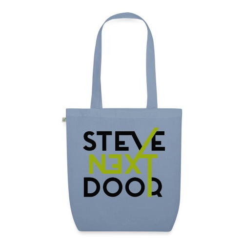 Steve Next Door _ Logo standard black - Bio-Stoffbeutel