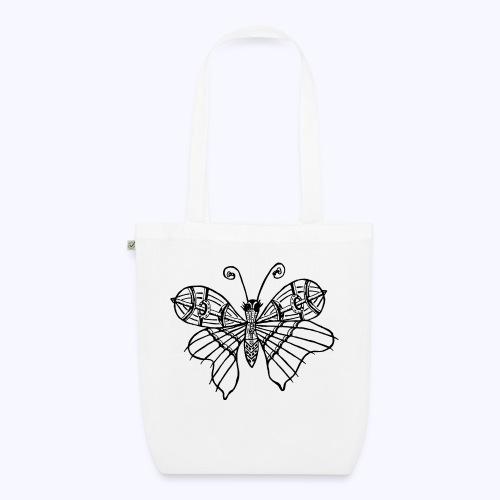 Schmetterling schwarz - Bio-Stoffbeutel