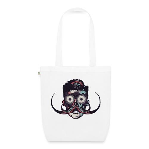 hipster tete de mort crane barbu skull moustache b - Sac en tissu biologique