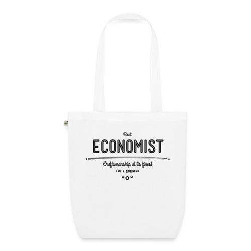 Bester Ökonom - wie ein Superheld - Bio-Stoffbeutel