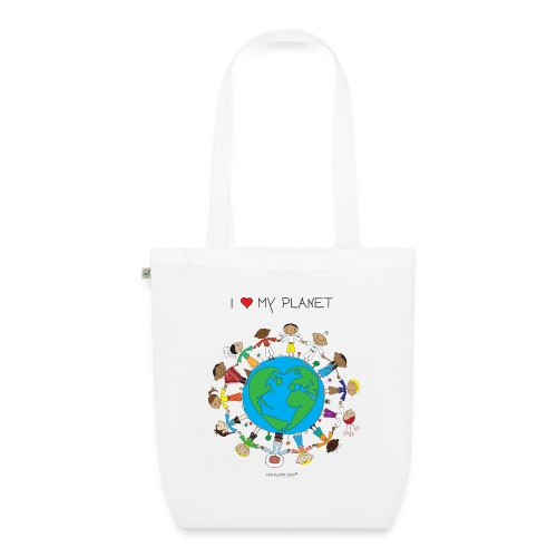 The Little Yogi - I love my planet - EarthPositive Tote Bag