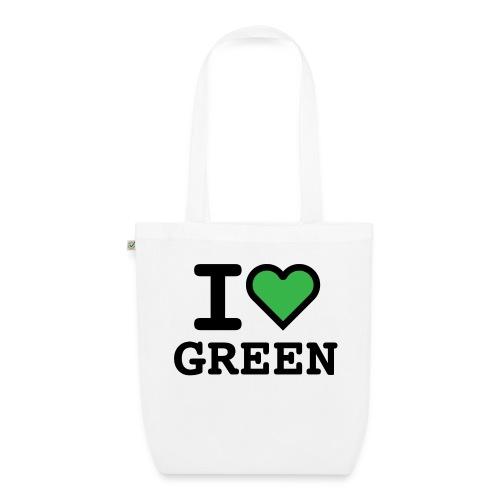 i-love-green-2.png - Borsa ecologica in tessuto
