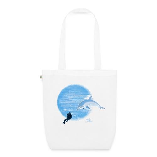 Dolphin and diver - Maillots - Sac en tissu biologique