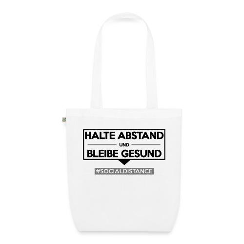 Halte ABSTAND und bleibe GESUND. www.sdShirt.de - Bio-Stoffbeutel