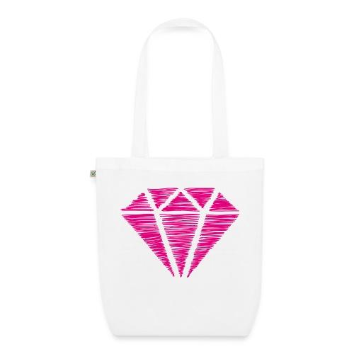 Diamante rosa - Bolsa de tela ecológica